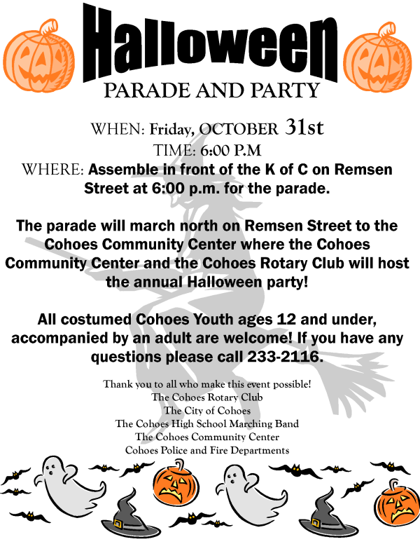 halloween parade and party