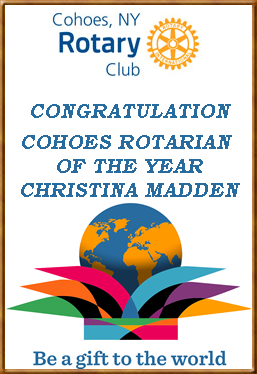 Christina Madden Cohoes Rotarian Of The Year