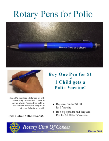 Rotary Pens for Polio